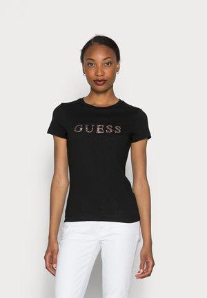 KIMETZ TEE - Print T-shirt - jet black