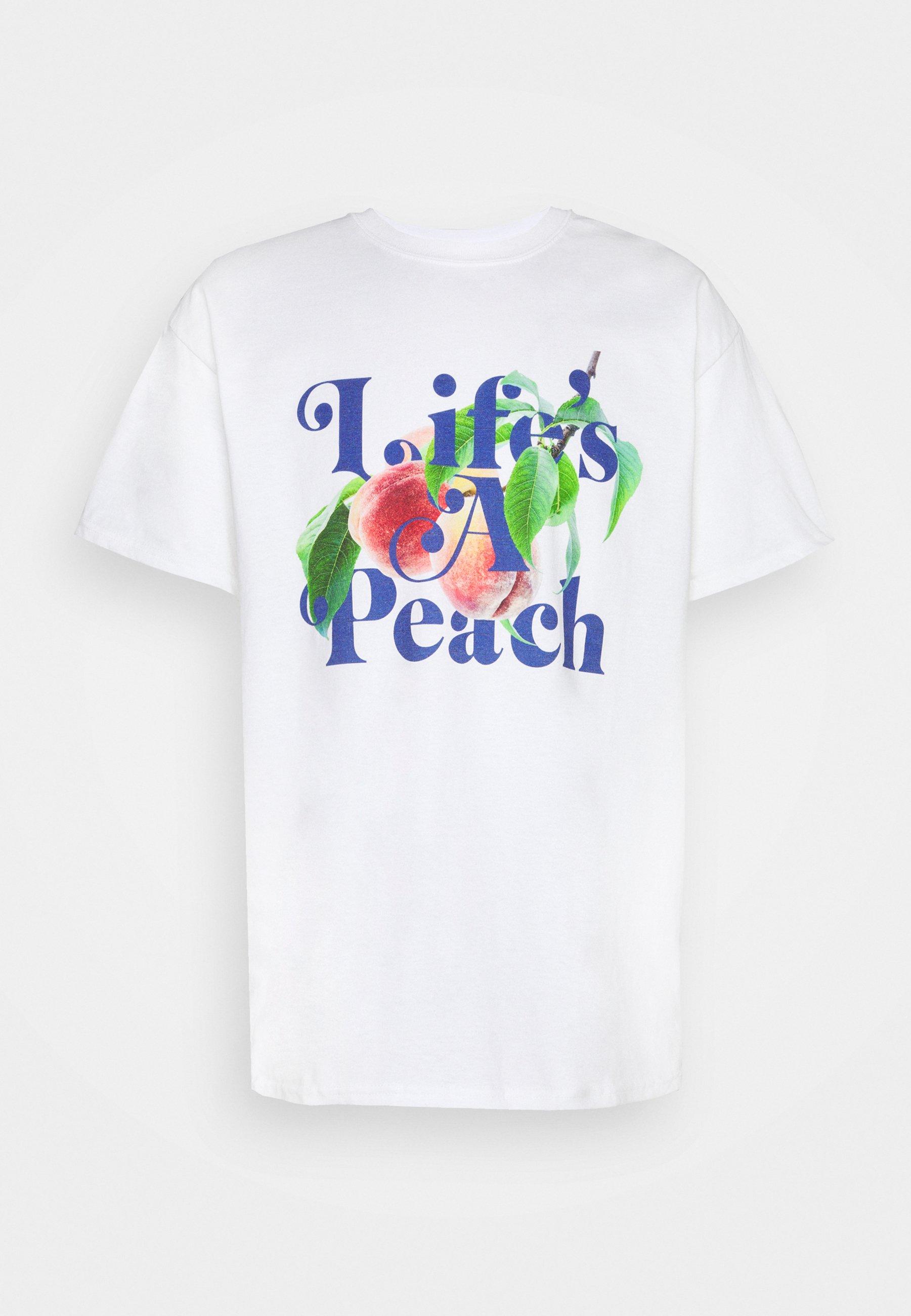 Women LIFE'S A PEACH SLOGAN GRAPHIC - Print T-shirt