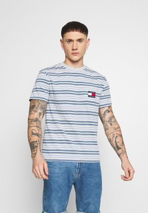 STRIPE POCKET TEE - Triko s potiskem - light grey stripe