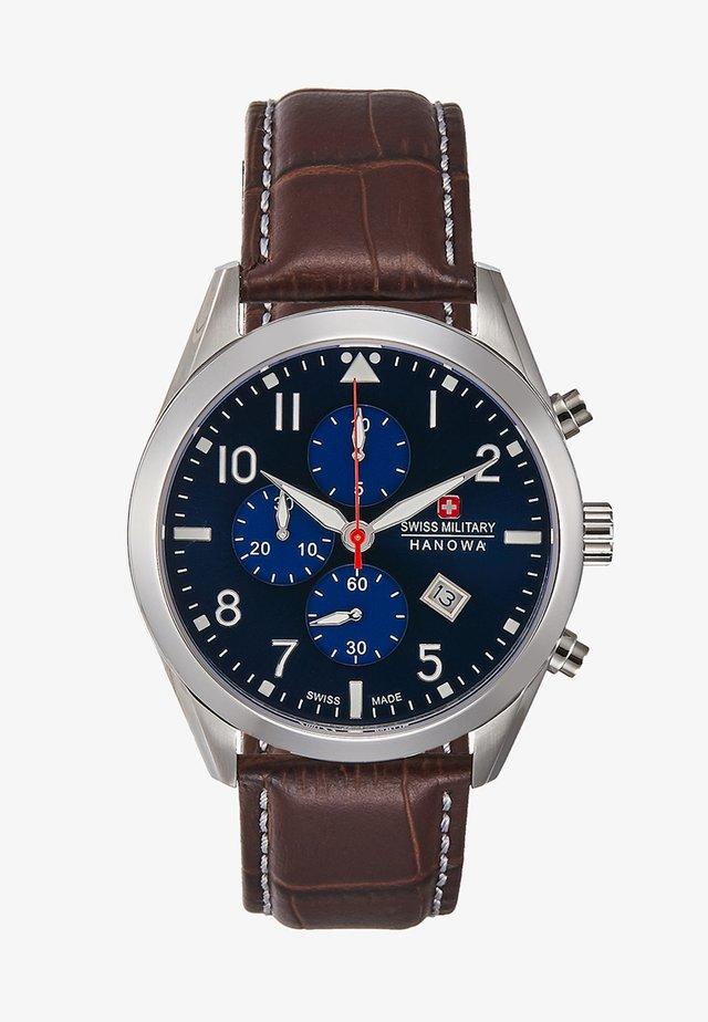 HELVETUS - Chronograph - brown/blue