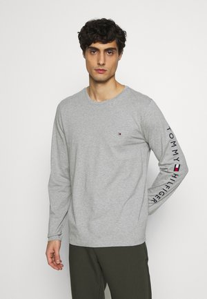 LOGO LONG SLEEVE TEE - Long sleeved top - grey