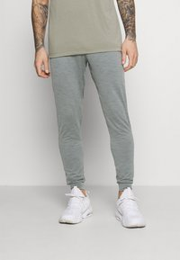 Nike Performance - PANT DRY YOGA - Pantalones deportivos - smoke grey/iron grey/black - 0