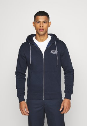 JORPRESTON ZIP HOOD - Huvtröja med dragkedja - navy blazer
