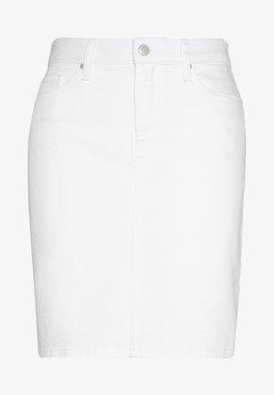 ROME STRAIGHT SKIRT - Denim skirt - white
