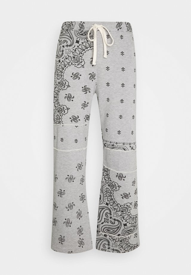 CUT AND SEW PAISLEY - Pantalon de survêtement - grey