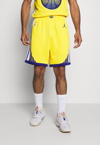 Nike Performance - NBA STATE WARRIORS SWINGMAN SHORT - Short de sport - amarillo/white/rush blue - 0