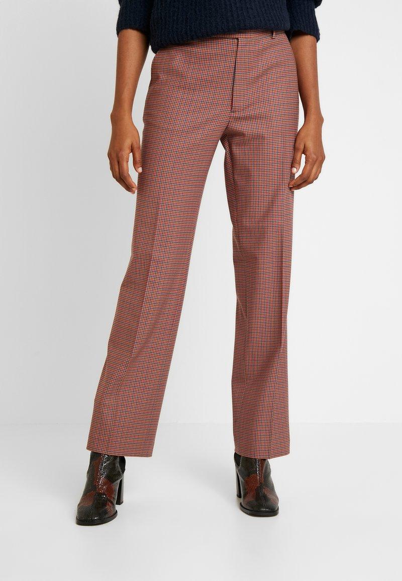 Leon & Harper - PHILIBERT CHECK - Trousers - camel