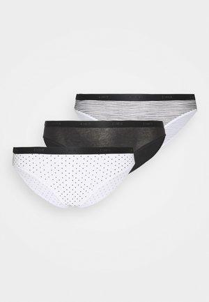 POCKET BRIEF 3 PACK - Kalhotky - black/white