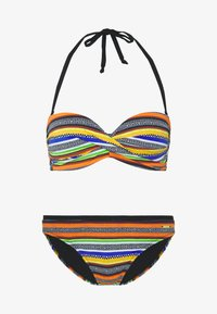 Bruno Banani - WIRE BANDEAU SET - Bikini - black/orange - 5
