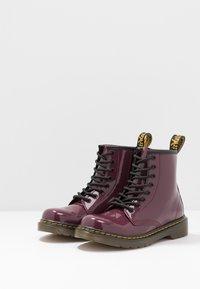 Dr. Martens - 1460 J PATENT - Lace-up ankle boots - plum - 3