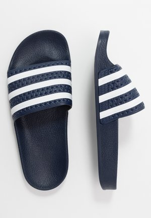 ADILETTE - Sandaler - legend ink/footwear white
