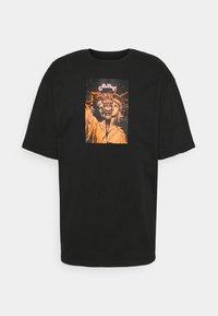 Grimey - LIVEUTION TEE UNISEX - T-shirt med print - black - 0