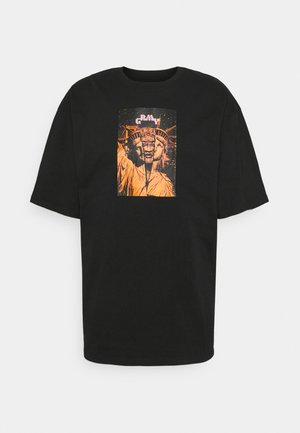 LIVEUTION TEE UNISEX - Print T-shirt - black