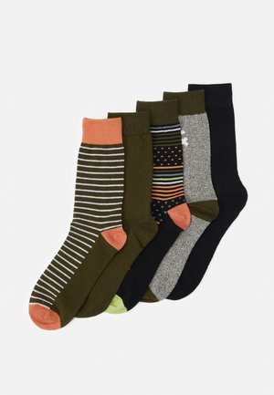 JACGREENISH SOCK 5 PACK - Sokken - rifle green