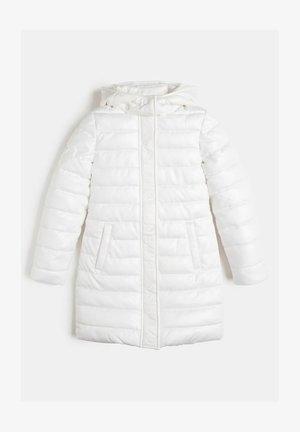 WATTIERTE GLITZER - Winter coat - weiß