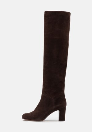 NO ZIP - Overkneeskor - dark brown