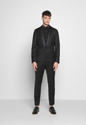 COLLAR BAND SHIRT - Shirt - black