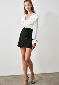 Trendyol - Wrap skirt - black - 3