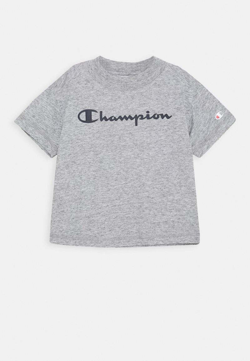 Champion - LEGACY AMERICAN CLASSICS CREWNECK CROPTOP - Print T-shirt - mottled grey
