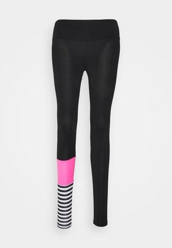 LEGGINGS SURF STYLE - Tights - neon pink/black
