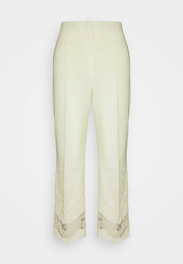 TROUSERS - Pantalon classique - yellow
