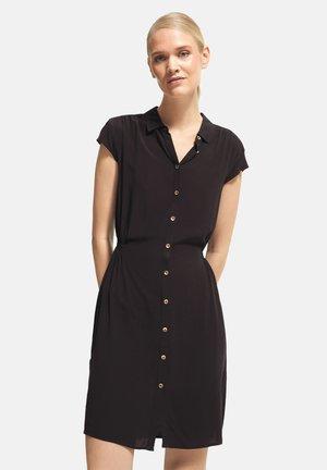 Shirt dress - mottled black