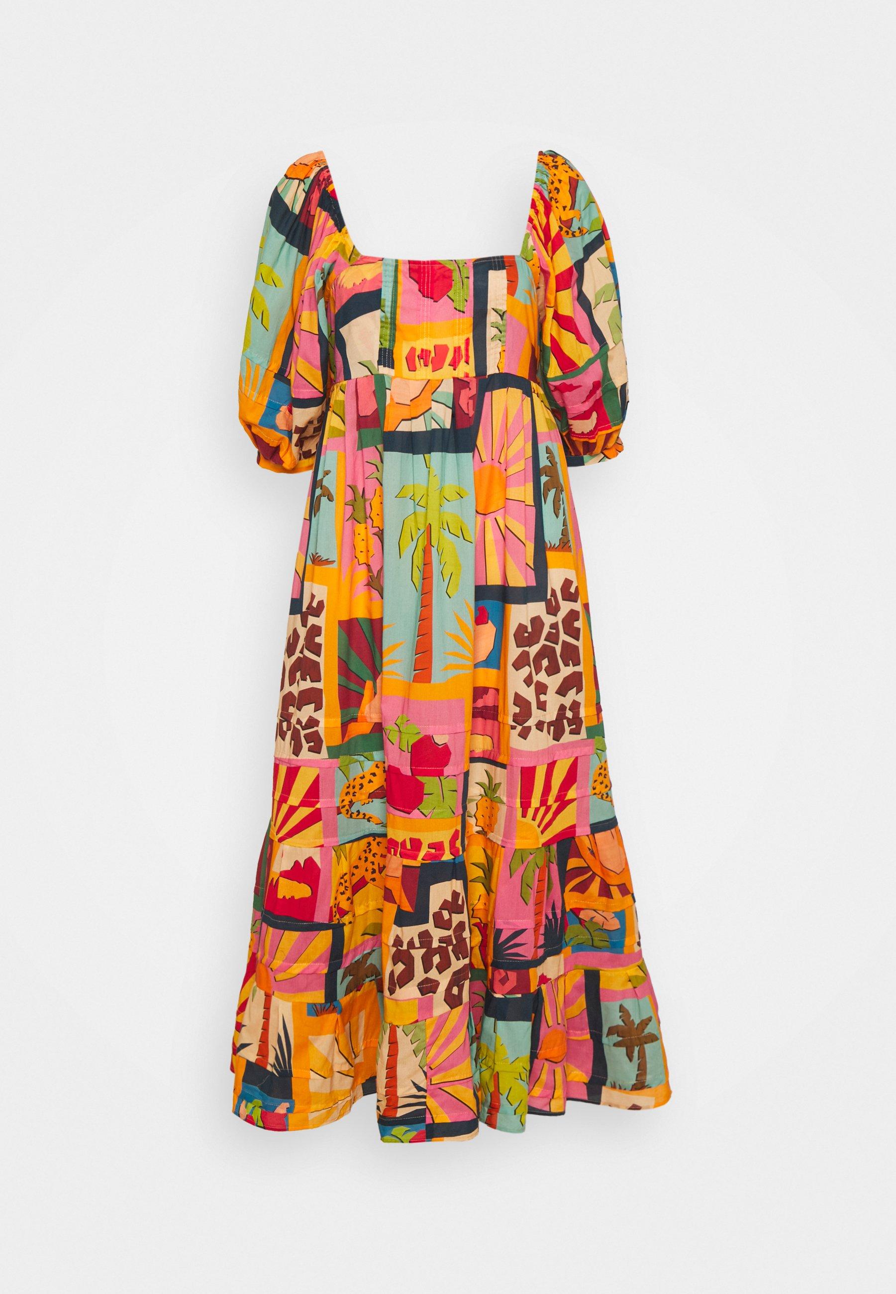Women COLLAGE MIDI DRESS - Day dress