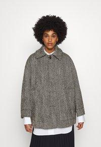 Weekday - CARLI JACKET - Short coat - black/white - 0