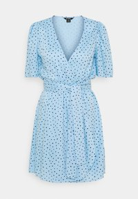 Monki - PING DRESS - Kjole - blue light irrydot - 4
