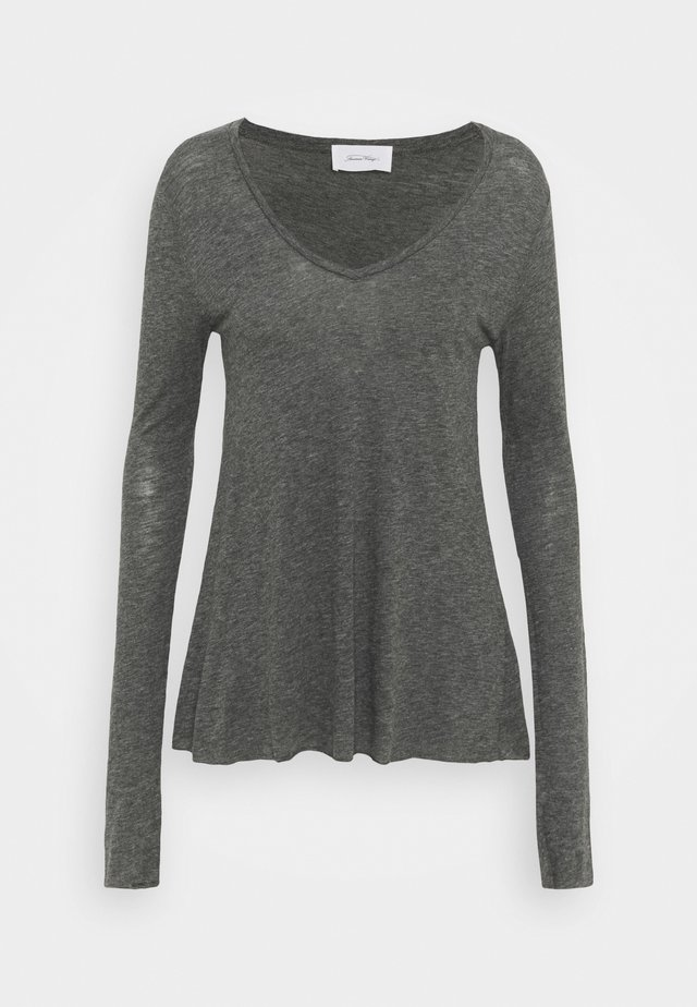 JACKSONVILLE - Long sleeved top - anthracite chiné