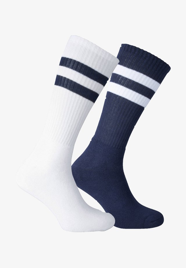2 PACK - Calze sportive - weiss, blau