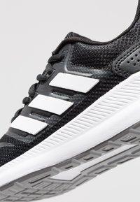 adidas Performance - RUNFALCON - Juoksukenkä/neutraalit - core black/footwear white/grey three - 5