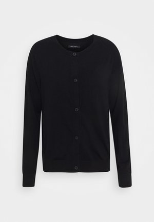 CARDIGAN LONGSLEEVE BUTTON CLOSURE SADDLE SHOULDER - Kardigan - black