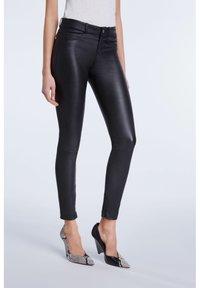 SET - LEDERHOSE DAKOTA - Leather trousers - black - 3