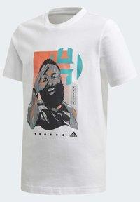 adidas Performance - HARDEN GEEK UP T-SHIRT - T-shirt print - white - 1