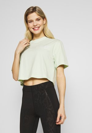 CROPPED SHORT SLEEVE  - T-shirt z nadrukiem - green