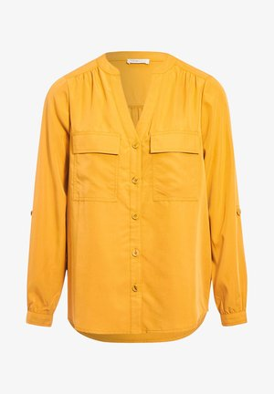 LONG SLEEVE - Button-down blouse - jaune moutarde