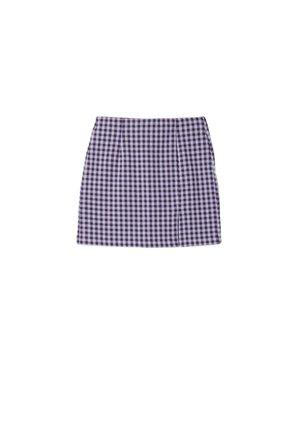 MIT ABTRENNUNG - Mini skirts  - mauve