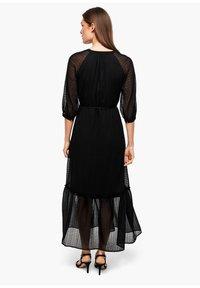 s.Oliver BLACK LABEL - CHIFFONKLEID MIT TRANSPARENZ-EFFEKT - Maxi dress - black - 2