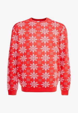 XMAS ICEFLOWER - Sweter - red