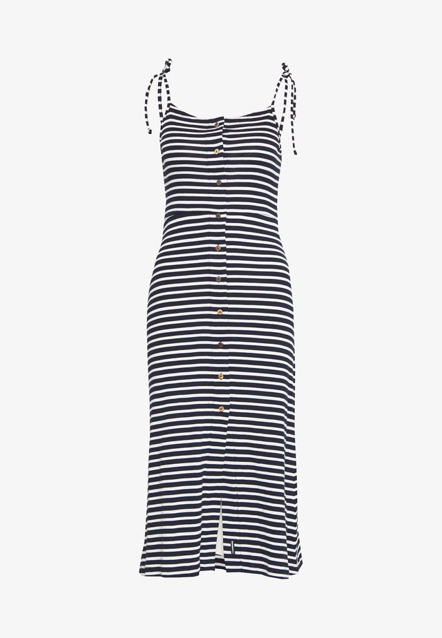 CHARLOTTE BUTTON DOWN DRESS - Jersey dress - navy