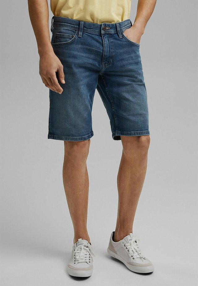 Denim shorts - blue medium washed