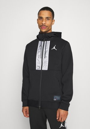 AIR FULL ZIP - Felpa aperta - black/white