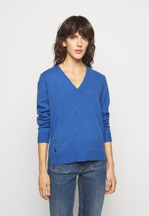 CLASSIC LONG SLEEVE - Strickpullover - deep blue heather
