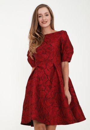 ROBERTA - Cocktail dress / Party dress - schwarz/rot