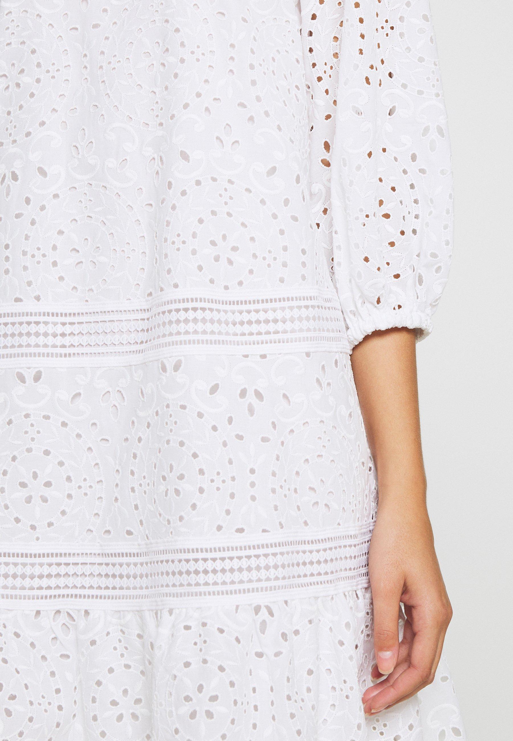 IVY & OAK DRESS PUFFY SLEEVES MINI - Robe d'été - snow white