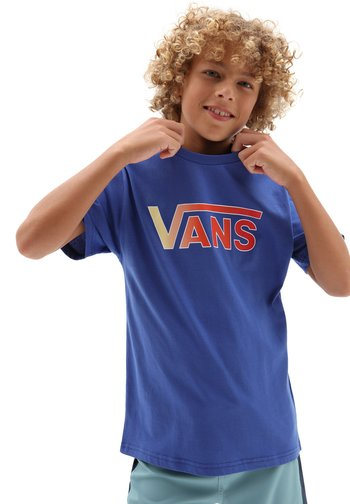 BY VANS CLASSIC LOGO FILL BOYS - T-shirt con stampa - blue