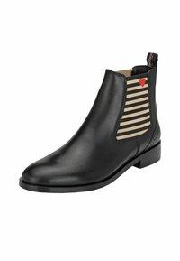 Crickit - CHELSEA BOOT SUVI MIT STREIFEN UND HERZCHEN - Classic ankle boots - schwarz - 7