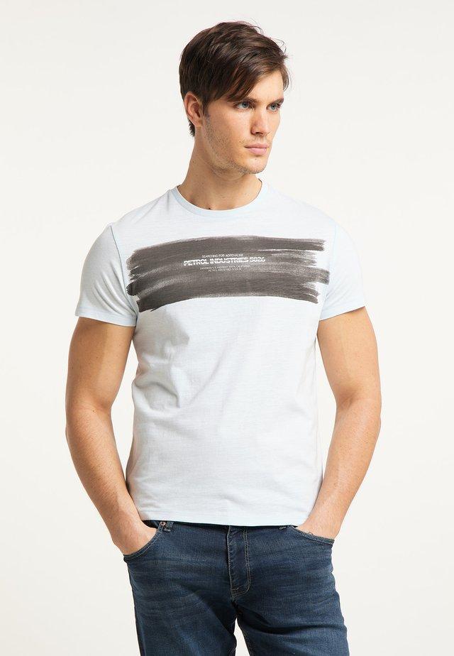 T-shirt con stampa - bleached aqua