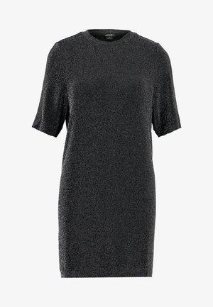 IZZY DRESS - Jersey dress - black dark silver